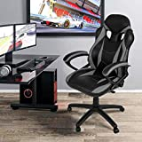 Merax Ergonomic Racing Style PU Leather Gaming Chair for Home and Office (Green)