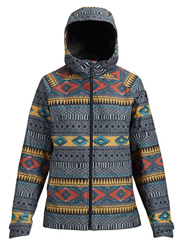 (Burton Women's Gore-Tex Packrite Rain Jacket, Tahoe Freya Weave, Small)