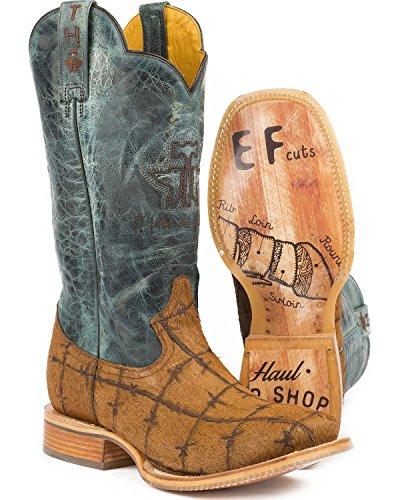 Tux Trek Heren Harig Metaal Cowboy Laars Vierkant Teen - 14-020-0007-0334 Bruinbruin