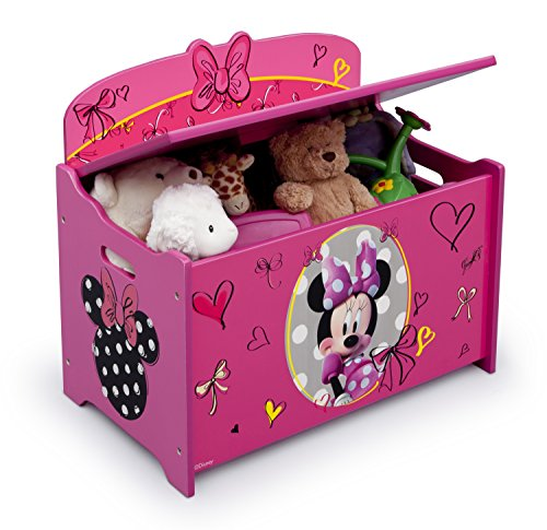 51dSE86p9BL - Delta Children Deluxe Toy Box, Disney Minnie Mouse