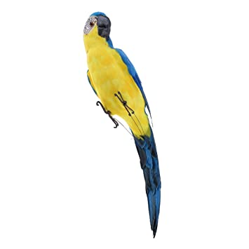 Home Decor Other Realistic Handcraft Parrot Feathered Bird Budgie Garden Blue 30cm New