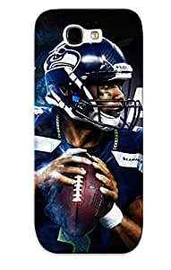Hard Plastic Galaxy Note 2 Case Back Cover, Hot Russell Wilson Case For Christmas's Perfect Gift