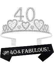 40th Birthday Sash, 40th Birthday Tiara, 40th Birthday Decorations for Her, 40th Birthday, 40th Birthday Tiara for women, 40th Birthday Sash and Crown, 40th Sash Birthday Women
