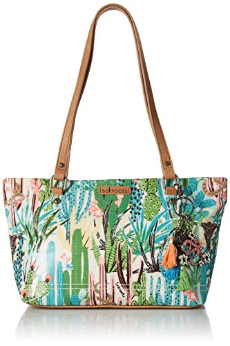 Sakroots Unisex-adults Small Satchel, Natural Mojave mirage