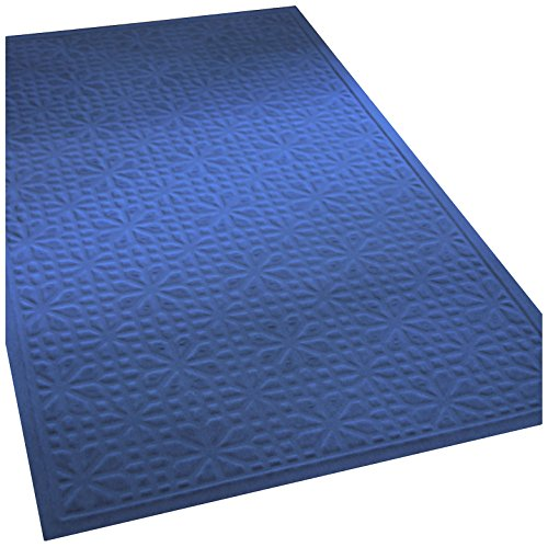 Soft Impressions Stained Glass Low-Profile Mat, 3 by 5-Feet, - Glass Stained Navy