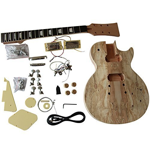 à bricoler soi-même guitare électrique Kits, GD710 style solide caisse en acajou avec échaufféérable placage