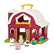 Battat Big Red Barn (Farmer + 4 Farm Animals included)