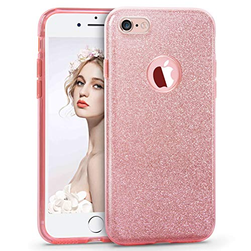 iPhone 6s Case, Imikoko Fashion Luxury Protective Hybrid Beauty Crystal Rhinestone Sparkle Glitter Hard Diamond Case Cover for iPhone 6s/6 (3-Layer) ()