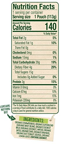 Sprout Organic Baby Food Pouches Sprout Organic Power Pak Toddler Food Pouch, Strawberry with Superblend Banana & Butternut Squash, 4 Ounce(Pack of 12); USDA Organic, 3 Grams of Protein,Plant Powered by Sprout (Image #3)