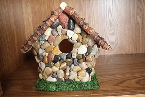 rock birdhouse by Rebecca Bennett's Artistic Designs