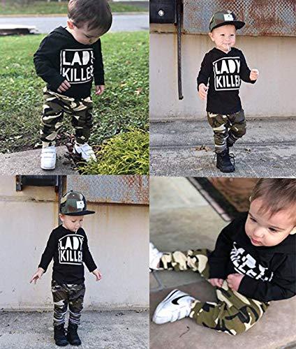 Ttkgyoe Completo Completo da Bambino con Maniche Lunghe Stampate a Maniche Lunghe Stampate con Cappuccio e Pantaloni… 6