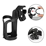 Upgrade Edition Bike Cup Holder, Stroller Drink Holders by Accmor,360 Degrees Universal Rotation Cup Drink Holder for Baby Stroller/Pushchair, Bicycle Strollers, Wheelchair