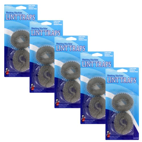10-washing-machine-lint-traps-aluminum-mesh-with-clamps