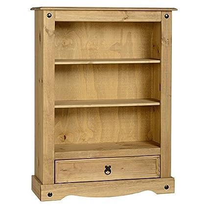 Librería clásica y práctica corona de madera de pino maciza ...