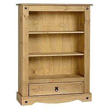 Clásico y práctico Corona pino macizo 1 cajón madera librería que esta pieza - muebles rústico y goval mirada 2 estantes - selección y 1 cajón para su ...