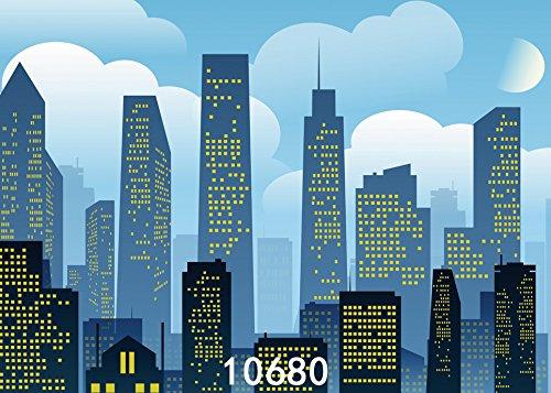 SJOLOON 7x5ft Super Hero City Vinyl Photography Backdrop