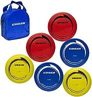 Disc Golf Starter Set with 6 Discs-2 PCS Driver, 2 PCS Mid Range, 2 PCS Putter, Include Starter Disc Golf Carr