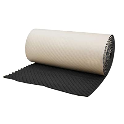 "uxcell Wave Studio Sound Acoustic Absorbing Heatproof Foam Deadener 19.7""x197\"" 27sqft: Automotive [5Bkhe0812412]"