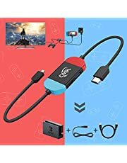 Mini Switch Dock for Nintendo,Portable TV Docking Station Excellent Replacement for Nintendo Switch Dock with HDMI and USB 3.1 Port,Suitable for Travel Party (Multi)