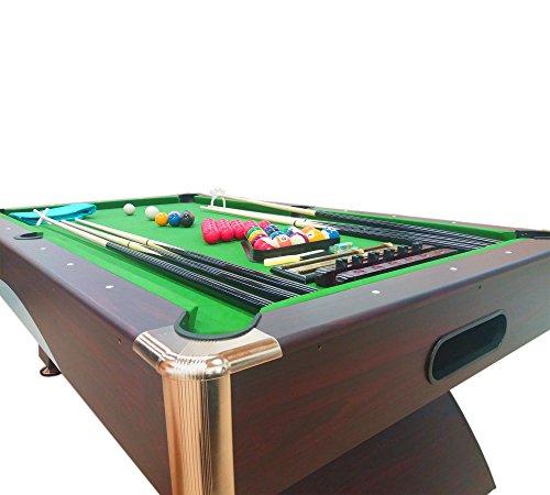 Tavolo da biliardo carambola misura 188 x 96 cm annibale snooker verde 7 ft 7 piedi - Tavolo da biliardo amazon ...