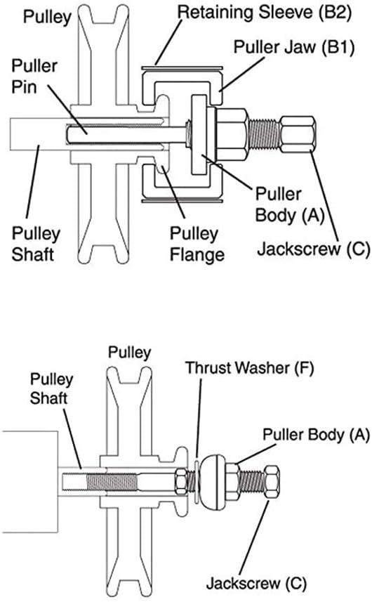 CNWOOAIVE 12 pi/èces Voiture Direction Assist/ée Alternateurs poulie Extracteur Dissolvant D/émontage Installateur Outil