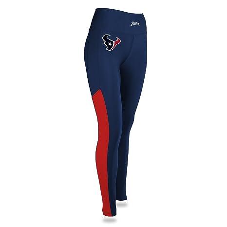 991f5292 Zubaz NFL Houston Texans Female NFL Stripe Mesh Leggings, Navy/Red, Small