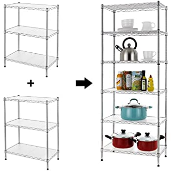 Amazon.com: Apollo Hardware Chrome 5-Shelf Wire Shelving 14\