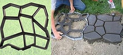 Molde para pavimentacion de caminos para paisajismo y como molde con hormigón efecto bloques de piedras