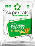 SuperEats High protein Puffs, Jalapeno Cheddar, 3 Ounce (Pack of 12) For Sale