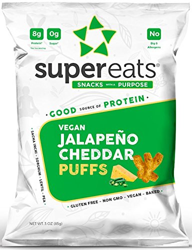 SuperEats High protein Puffs, Jalapeno Cheddar, 3 Ounce (Pack of 12) by SuperEats (Image #6)