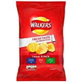 Walkers Crisps Classic Variety Pack, 6 x 25g