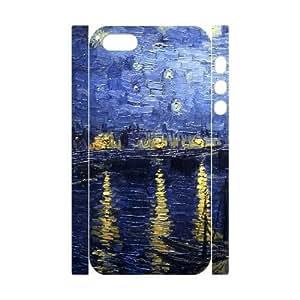 LZHCASE Diy Customized Case Van Gogh 3D Case for iPhone 5,5S [Pattern-1]