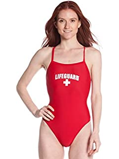 aee6893f123af LIFEGUARD Officially Licensed Swimsuit for Women & Ladies, One Piece Lycra  Swimming Suit, Elastic