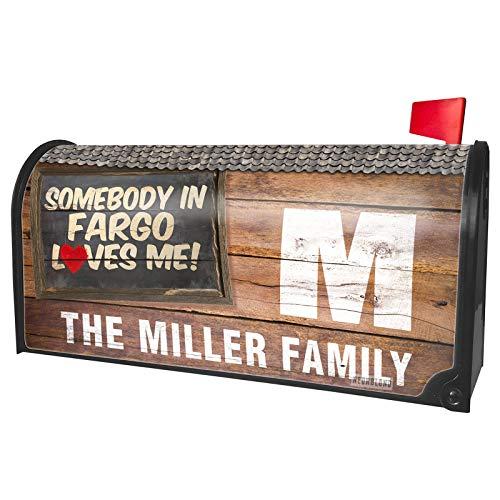 NEONBLOND Custom Mailbox Cover Somebody in Fargo Loves me, North Dakota]()