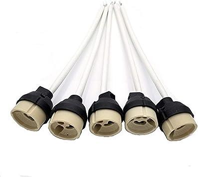 GU10 Casquillo, JRing Portalámparas GU10 para Bombillas LED y Halógenas (5Pcs): Amazon.es: Electrónica