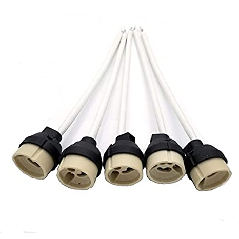 GU10 Casquillo, JRing Portalámparas GU10 para Bombillas LED y Halógenas (5Pcs)