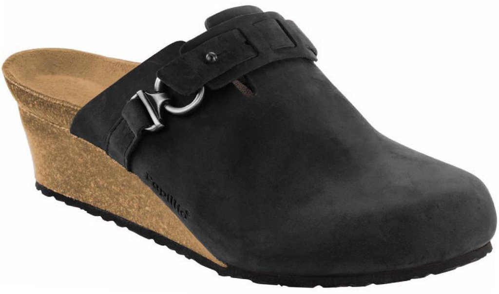 Birkenstock Papillio Women's Dana Clog Black Oiled Leather Size 38 EU (7.5-8 N US Women)