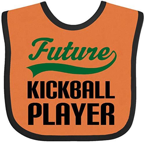 Inktastic - Future Kickball Player Baby Bib Orange and Black 14edb (Kickball Player)