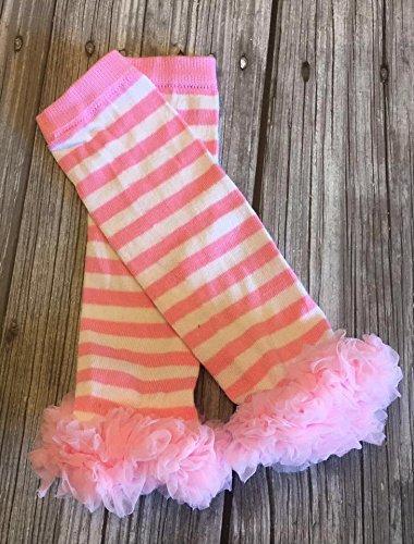 light pink tutu ruffle baby leg warmers