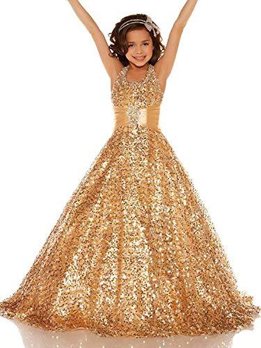 Lisa Golds Sequins Pageant Dress Long Flower Girl Bridesmaid Dress LS79