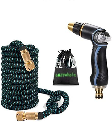 ZTMN Household Car Wash High Pressure Water Gun Nozzle Telescopic Water Pipe Garden Watering Flower Hose (Size : 25FT)