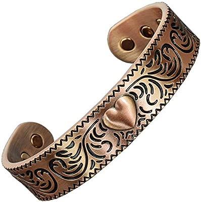 Pulsera de cobre puro mujeres pulseras magneticas curativas ...