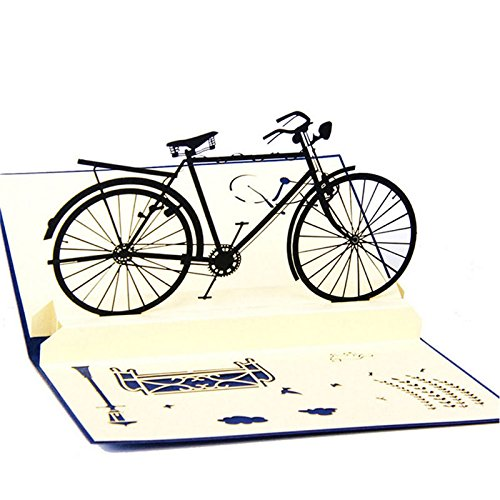 Thobu Gift Mother's Day, Father's Day 3D Pop Up Cards Handmade Bicycle Happy Birthday Thank You Christmas Halloween]()