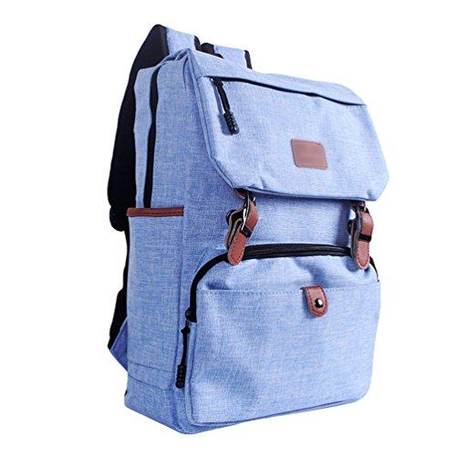ZKOO Mujeres Hombres Colegio Mochila de Lona Portátil Escolares Mochilas Backpack Viaje Mochila Backpack Daypacks Azul Claro