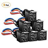 GOOACC 6 Pack Automotive Relay Harness Set 5-Pin