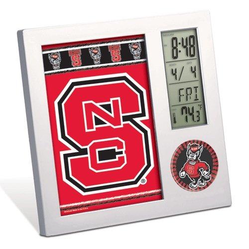 WinCraft NCAA North Carolina State University Desk Clock, Black (North Carolina State Desk)