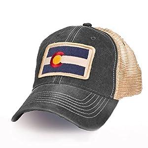 Colorado Flag Patch Trucker Hat, Black