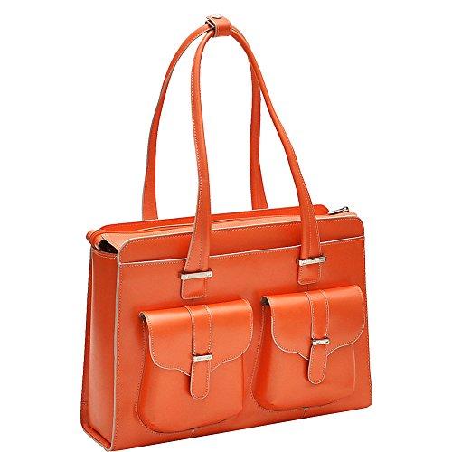McKleinUSA ALEXIS 96540 Orange Leather Ladies' (Mcklein Usa Italian Leather Briefcase)