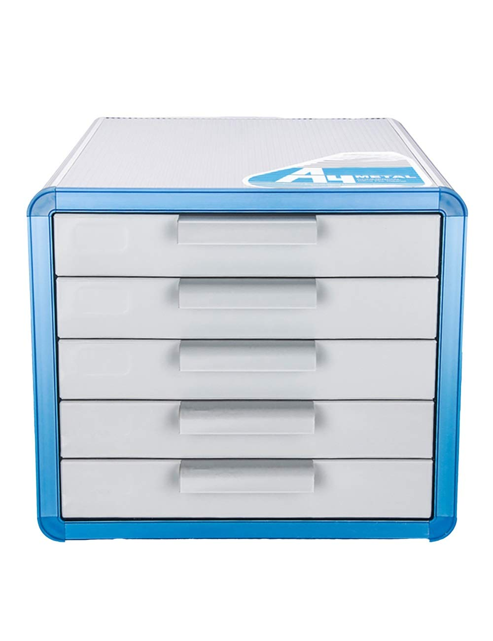 File Cabinet Family Office Desktop Cabinet Storage Cabinet 5 Drawers File Storage Cabinet Aluminum Alloy, Medium Fiber Board 286x346x253mm Filing cabinets