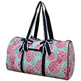 Southern Summer Pineapple NGIL Large Quilted Duffle Bag